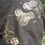 「金貝煌花-きらびやか-」 和柄 作務衣 大きいサイズ 3L 4L メンズ ゴールド 金色 金粉入り 友禅手描き 貝 【送料無料】