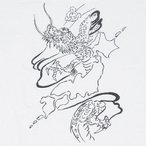 Tシャツ「大和龍」竜,ドラゴン,金粉入り友禅手描き,水墨画,simple,大きいサイズ,和柄,LL,3L,4L,5L,6L,7L,半袖,長袖,七分丈,五分丈メンズtee