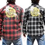 ショッピング和柄 【YH183-1】【和柄Tシャツ】【3カラー】和柄刺繍長袖Tシャツ 和柄 メンズ 風神雷神刺繍 和柄長袖Tシャツ 和柄ロンT 特攻服