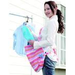 楽らく キャリー 洗濯 エプロン(洗濯かご)カンガルーみたいに取り入れ取り出しができるランドリーエプロン「メール便で送料無料」「ゆうパケット」