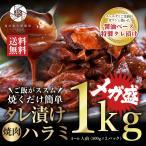 肉 牛肉 メガ盛り 焼肉 ハラミ タレ付き 1000g(500g×2P) 焼き肉 バーベキュー BBQ 肉 お肉  送料無料 焼肉セット 贈答  ギフト