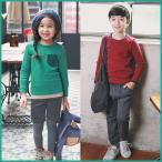 子供服 キッズ 子供 男の子 女の子 長袖 シャツ Tシャツ シンプル ワンポイント kd1116