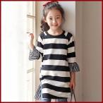 Yahoo!和一モール送料無料 春新商品 子供服 キッズ 子供 女の子 長袖 ワンピース シャツ ドレス シンプル 親子kd2623