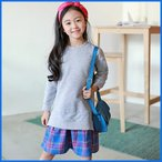 Yahoo!和一モール送料無料 春新商品 子供服 キッズ 子供 女の子 長袖 ワンピース シャツ ドレス シンプル kd2628
