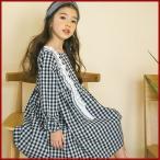 Yahoo!和一モール送料無料 春新商品 子供服 キッズ 子供 女の子 長袖 ワンピース シャツ ドレス シンプル kd2658