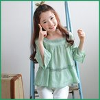 Yahoo!和一モール送料無料 春新商品 子供服 キッズ 長袖 シャツ 上着  女の子 デザイン オシャレkd2871