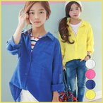 Yahoo!和一モール送料無料 春新商品 子供服 キッズ 長袖 シャツ 上着  女の子 デザイン オシャレkd2884