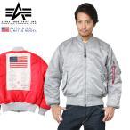 ALPHA USA アルファ 日本未発売 MA-1フライトジャケット BLOOD CHIT SILVER/RED TA0116 メンズ MA1 ブラッドチット ミリタリー ブルゾン ジャンバー ブランド