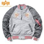 ALPHA アルファインダストリーズ TA0616 MA-1 SOUVENIR ジャケット DOUBLE DRAGON スーベニアジャケット スカジャン 刺繍 MA1 ジャンパー ミリタリー ブランド
