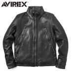 AVIREX アビレックス アヴィレックス 6171065 SHEEP SKIN ミリタリートラックジャケット メンズ 革ジャン シープスキン レザージャケット ブルゾン アウター
