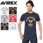 AVIREX アビレックス アヴィレックス 6173349 USAコットン USAAC WING Tシャツ メンズ ミリタリー アメカジ プリント 半袖 カットソー ブランド