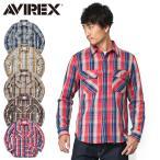 AVIREX アビレックス 6175151 デイリーウエア L/S コットン フランネルワークシャツ メンズ ネルシャツ チェックシャツ 長袖 アメカジ ミリタリー ブランド