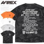 AVIREX ���ӥ�å��� 6183372 S/S ���롼�ͥå� EMBROIDERED T����� USS ENTERPRISE ��� �ߥ� Ⱦµ ���åȥ��� �إӡ��������ȡڥ����ݥ��оݳ���
