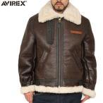 ミリタリージャケット AVIREX アビレックス 2104 B-3 シープスキン レザージャケット 大きいサイズ BROWN 2104-055 ブランド