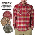 クーポンで15%OFF! AVIREX アビレックス アヴィレックス L/S メンズ ネルシャツ チェックシャツ フランネル ウエスタンシャツ 6145213