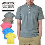 【あすつく対応】 AVIREX アビレックス アヴィレックス デイリーウェア 6143407 DIRTY PIQUE ポロシャツ 【クーポン対象外】