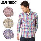 【あすつく対応】 AVIREX アビレックス アヴィレックス L/S マドラス ウエスタンシャツ チェックシャツ 長袖 6145135 【クーポン対象外】