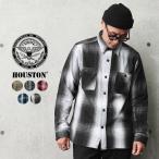 HOUSTON ヒューストン 40763 オンブレチェック ビエラ ヴィンテージ ワークシャツ メンズ レディース ネルシャツ アメカジ 厚手 肉厚 ミリタリー ブランド 新作