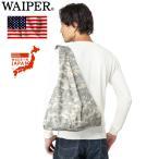 ショッピングエコ クーポンで20%OFF! WAIPER 米軍採用生地使用 マルシェバッグ ACU ミリタリー ショッピングバッグ エコバッグ 折りたたみ 迷彩 カモフラージュ