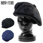 クーポンで15%OFF! New York Hat ニューヨークハット 6291 デニムステッチ ビッグアップル キャスケット 帽子 メンズ