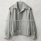 実物 新品 フランス軍ショートウィンドジャケット グレー メンズ ミリタリー アウター デッドストック ジャンパー ジャンバー ブルゾン 軍服