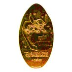 香港ディズニーリゾート スペースマウンテン スティッチ柄 スーベニアメダル
