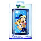 香港ディズニーリゾート iPhoneケース iPhone4,4s用 ミッキー&ダッフィー(青)