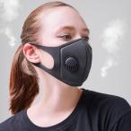スポンジングマスク 呼吸弁付 ブラック 通気性のある快適素材
