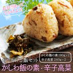 かしわ飯の素・辛子高菜 セット 博多若杉
