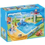 Playmobil(プレイモービル) 子供用プールと滑り台&ジャグジー/Children's Pool with Whale Fountain【54