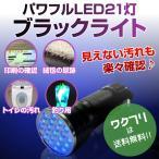 ブラックライト ペンライト ブラックペンライト LED UVライト 懐中電灯 強力 紫外線 科学 汚れ 釣り 蓄光力 絨毯 尿跡 チェック 偽造防止 21灯