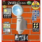 センサーライト ムサシ RITEX 2W LED (LED-125) 乾電池式 防犯ライト 防犯グッズ セキュリティ 照明 屋外 玄関 車庫 エクステリア 配線不要 省エネ