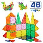 ショッピング作り方 MAGTOYS マグトイズ 48ピース TILESシリーズ 作り方ガイドブック付き 立体パズル 磁石ブロック マグネットパズル 積み木 子ども ブロック クリスマス