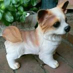 犬の置物 ポメラニアン おまけ付 いぬ イヌ 動物 2983H ガーデン ガーデニング 置物 陶器 オブジェ オーナメント インテリア