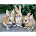 うさぎの置物 ミニフレンドラビット3匹セット N12150 ウサギ ラビット 兎 オーナメント ガーデン オブジェ インテリア 置物 マスコット オ