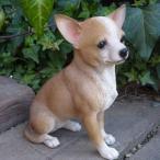 ショッピングオーナメント 犬の置物 チワワ いぬ イヌ 動物 N2629 オーナメント ガーデン オブジェ 庭 雑貨 ガーデニング ガーデンマスコット リアル ディスプレィ