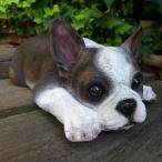 犬の置物 フレンチブルドッグ N12626 いぬ イヌ 動物 ガーデン ガーデニング オブジェ オーナメント 雑貨 インテリア 陶器 置物