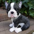 犬の置物 フレンチブルドック いぬ イヌ 動物 3702-06 オーナメント ガーデン オブジェ 庭 ガーデニング インテリア 雑貨 マスコット リア