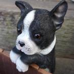 犬の置物 フレンチブルドック ハンギングドッグ 3704-04 いぬ イヌ 動物 オーナメント ガーデン オブジェ 庭 雑貨 ガーデニング インテリア