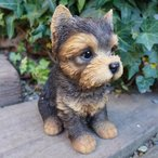 犬の置物 ヨークシャーテリア いぬ イヌ 動物 T14069 オーナメント ガーデン オブジェ 庭 雑貨 ガーデニング インテリア 陶器 マスコット
