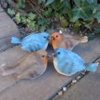 バード4羽セット(S) 小鳥 とり トリ オブジェ 動物 オーナメント 3737-0102 ガーデン ガーデニング インテリア 置物 マスコット 庭