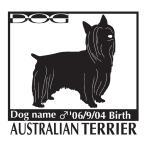 犬 ステッカーA オーストラリアンシルキーテリア Lサイズ