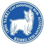 オーストラリアンシルキーテリア 犬 ステッカー Dパターン