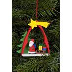ドイツ雑貨 クリスマスオーナメント サンタと星