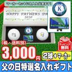 父の日特選名入れゴルフギフト 化粧箱入りゴルフボール2球+名入れマーカー 3,000円(税別) メーカーおまかせ公認球