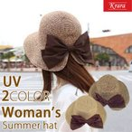 麦わら帽子 ストローハット 帽子 レディース ハット つば広 リボン 紫外線対策 キャペリンハット サファリハット スカラハット UVハット 夏