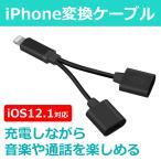 iPhone イヤホン 変換ケーブル 変換アダプタ イヤホンジャック 2in1 音楽 通話 アイフォン8 Plus 7