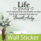 ウォールステッカー 壁 英語 文字 英字 英文字(Life) 転写タイプ 貼ってはがせる のりつき 壁紙シール ウォールシール ウォールステッカー本舗