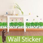 ショッピングウォールステッカー ウォールステッカー 壁 花 花壇 蝶 貼ってはがせる のりつき 壁紙シール ウォールシール 植物 木 花