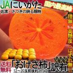 おけさ柿 新潟産JA佐渡島はもち 種無し柿 3.75kg 訳あり傷あり限定 刀根柿 平種無柿 たねなし柿 高糖度